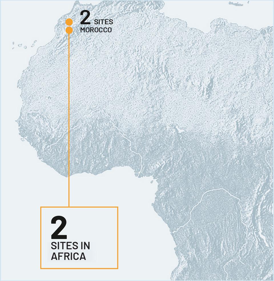 2 sites in Africa