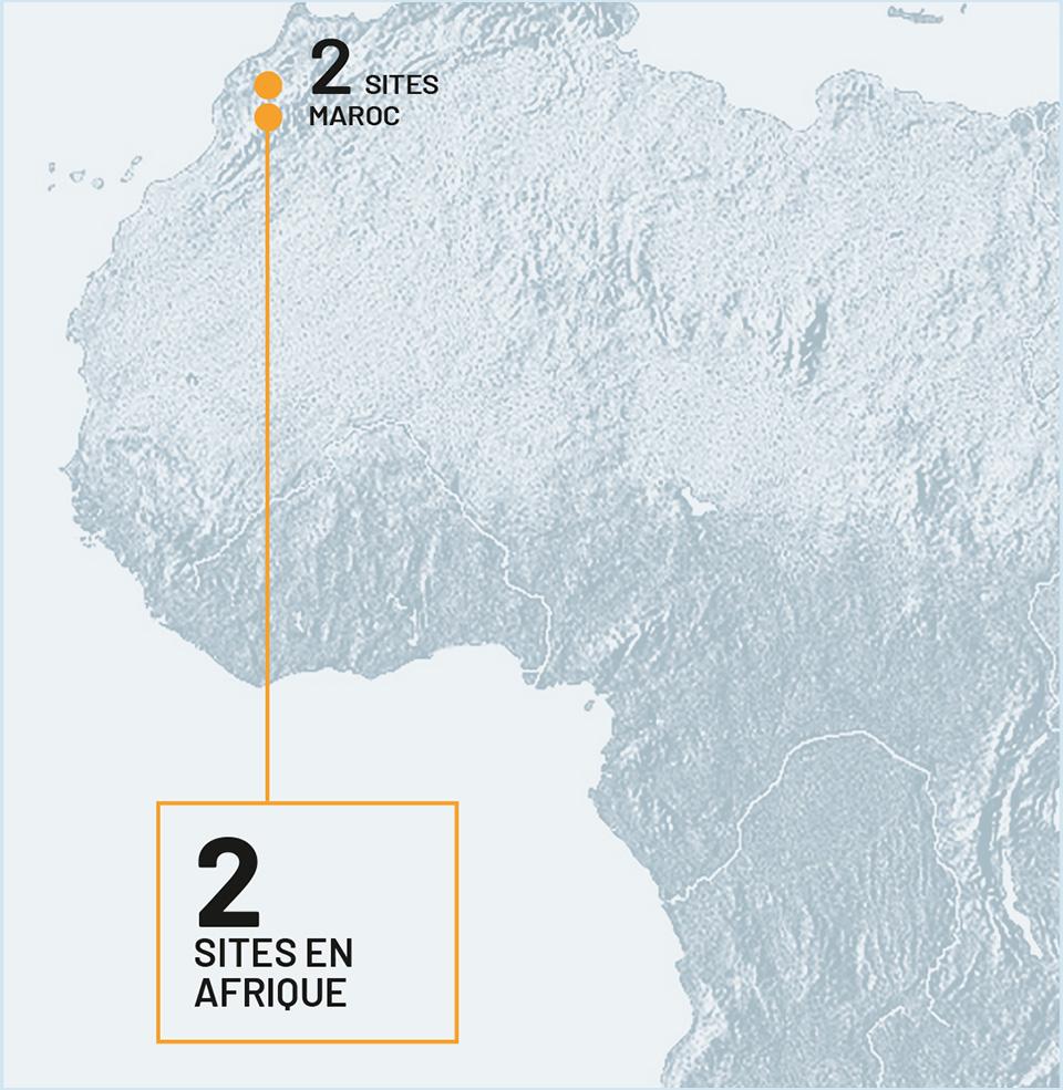 2 sites en Afrique