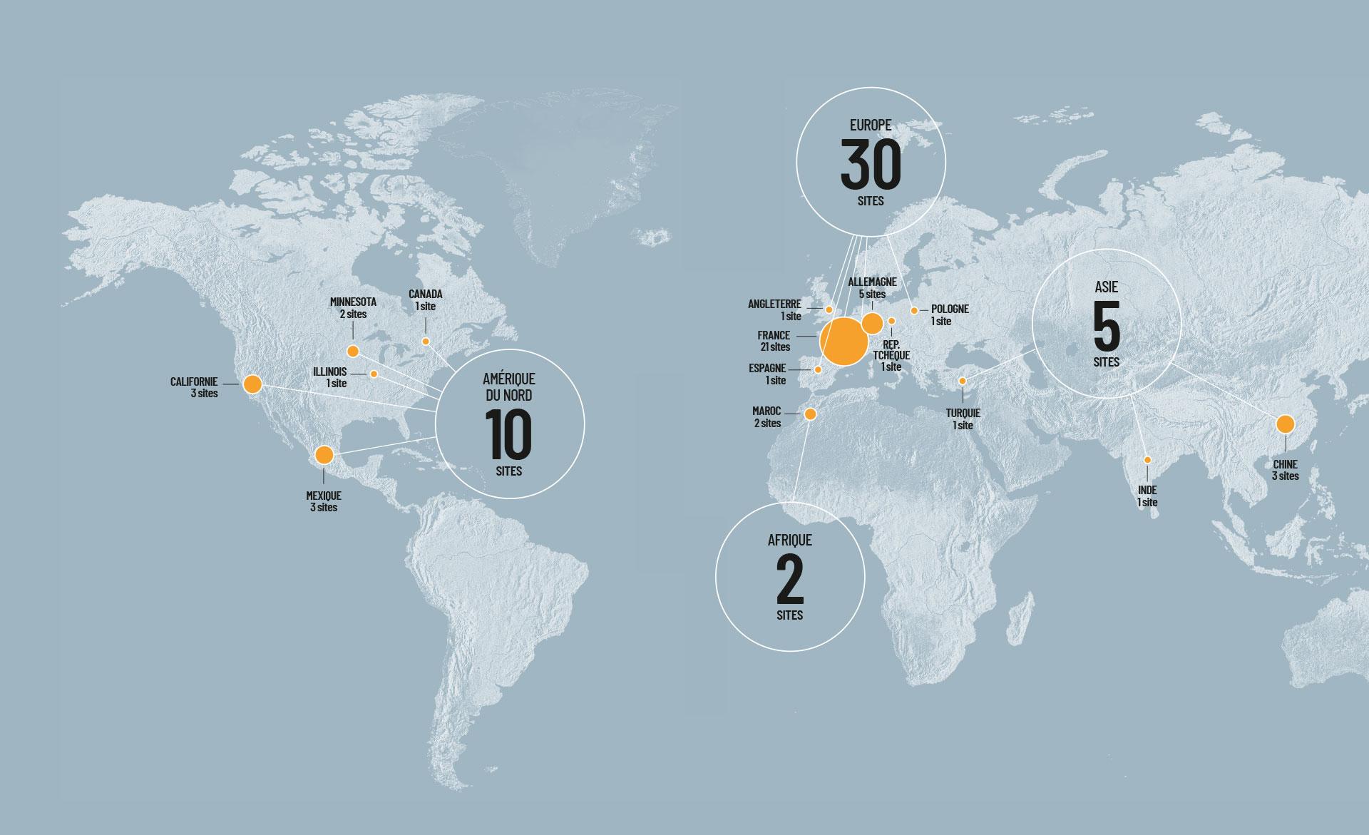 Un groupe présent dans 13 pays sur 4 continents